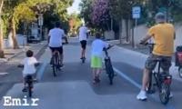 'Ertugrul' star Engin Altan Duzyatan enjoys bicycle ride with four-year-old son Emir