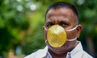Indian man doles out $4,000 for gold face mask for COVID-19 protection