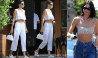 Kendall Jenner looks elegant in brilliant white ensemble