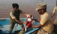 Pakistan Army carries out relief operation in flood-stricken Dadu district
