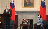US health secretary meets Taiwan's president