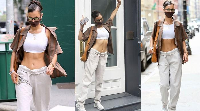 Bella Hadid looks stunning in a skintight crop top and a pair of sagging pants - The News International