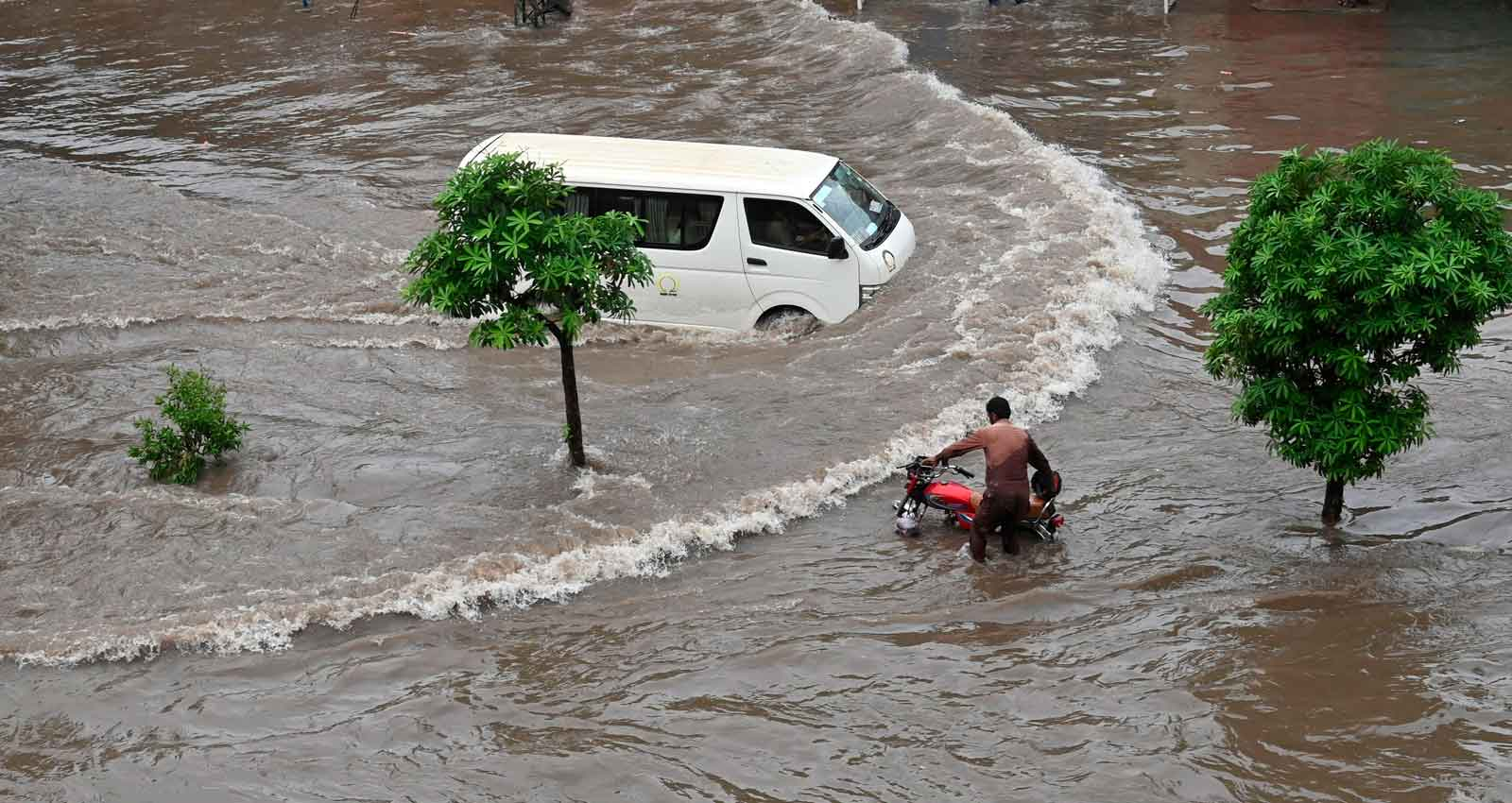 In pictures: Lahore underwater after heavy rainfall