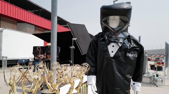 Emmys presenters to put on specially-branded hazmat suit for the award night