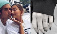 Hailey Bieber honours husband Justin Bieber with wedding ring 'J' tattoo