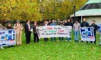 Protestors at UK's Speaker's Corner voice against MSR's illegal detention