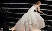 Did Jennifer Lawrence fake her fall at the Oscars in 2013?