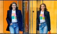 Gigi Hadid breaks Instagram hiatus to inform fans she voted with newborn 'daughter next to her'