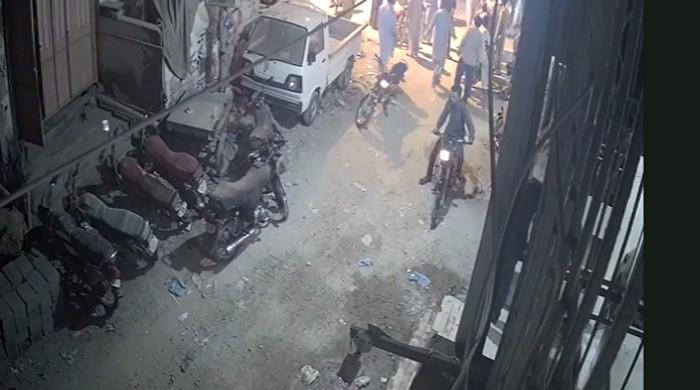 The Karachi police officer identified one of the 8-10 people who beat the youths