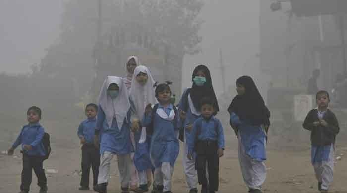 Lahore Smog: The level of 'unhealthy' pollution was recorded in the city today