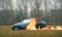 Russian YouTuber shocks followers by burning Mercedes in open field