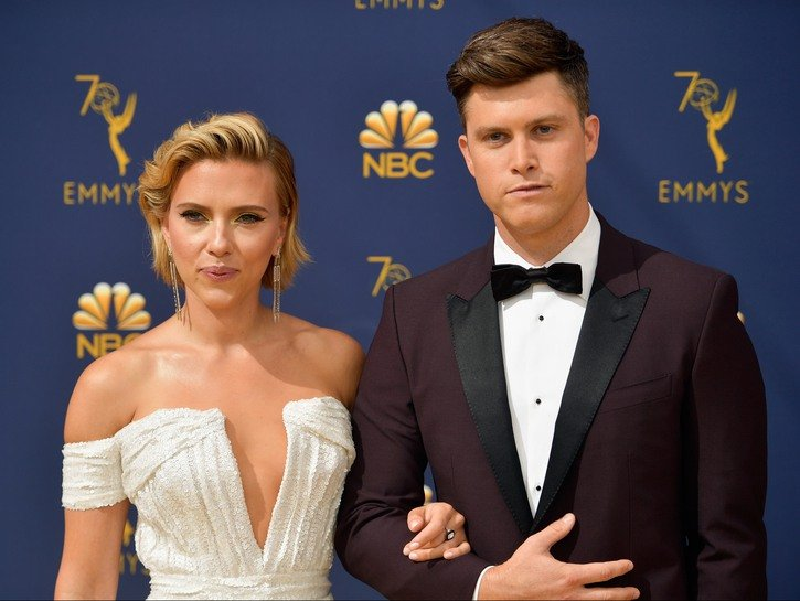 Scarlett Johansson Colin Jost Are Husband And Wife After Exchanging Vows In Private Ceremony