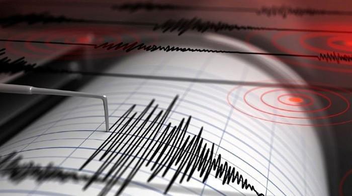 A magnitude 3.6 earthquake 100 km southeast of Karachi