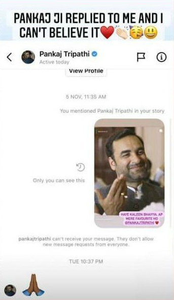 """Iqra Aziz elated as she gets a reply from """"Kaleen Bhaiyaa""""."""
