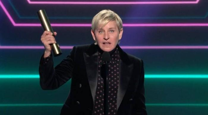 Ellen DeGeneres thanks her staff as she wins People's Choice Award after workplace scandal