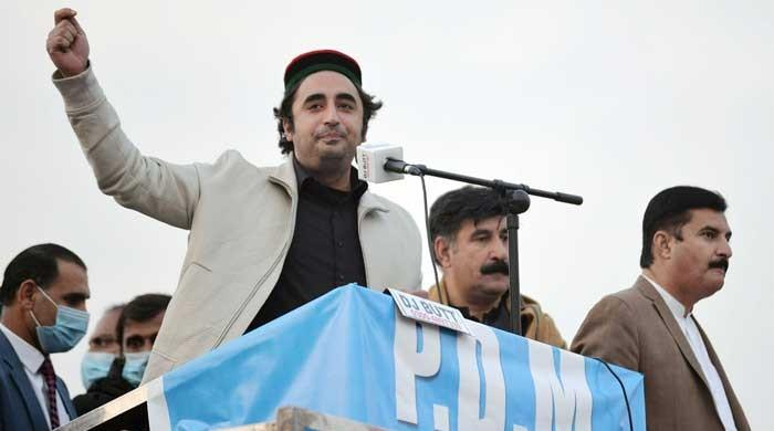 At the Peshawar rally, Bilawal claimed that January would be the last month of the government
