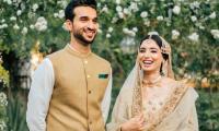 Sports anchor Zainab Abbas celebrates her first wedding anniversary