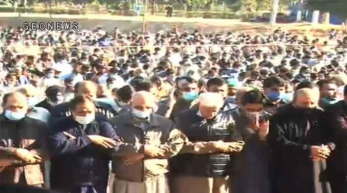 Funeral prayers of Nawaz Sharif's mother were offered in Lahore
