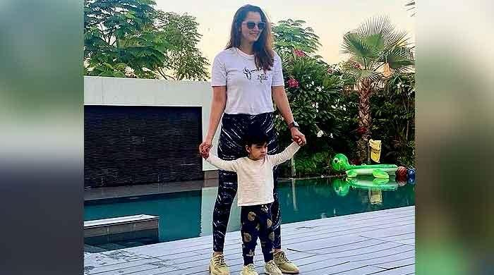 Sania Mirza is winning with twins and son Izan Mirza