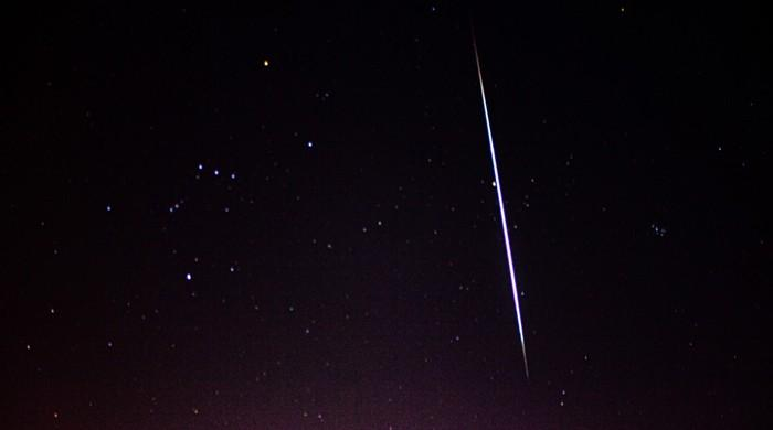 KU faculty member snaps picture of a meteor shower
