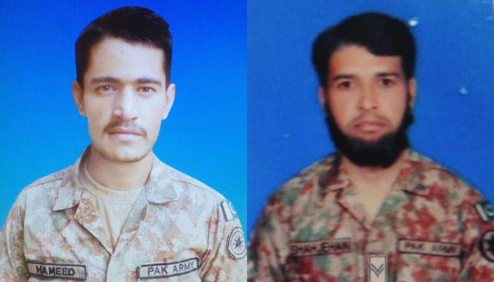 KIlled pakistani troops
