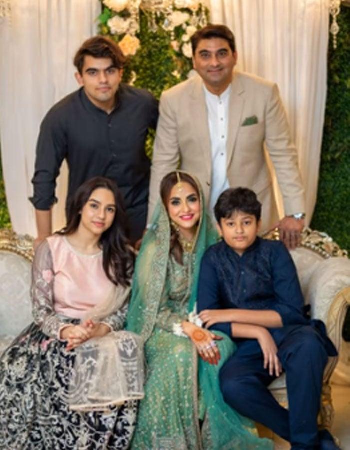Famous Pakistani actress Nadia Khan introduces her husband