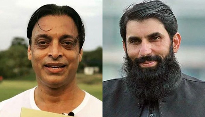 Former pacer Shoaib Akhtar and head coach Misbah-ul-Haq