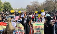 University students take to Islamabad's streets against on-campus exams