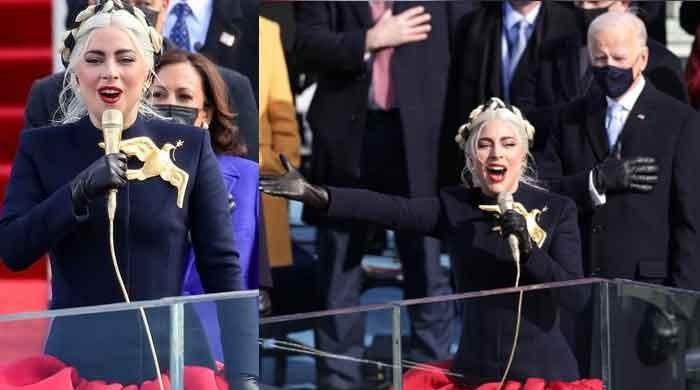 Lady Gaga stuns with her passionate National Anthem performance at Joe Biden's Inauguration: Video