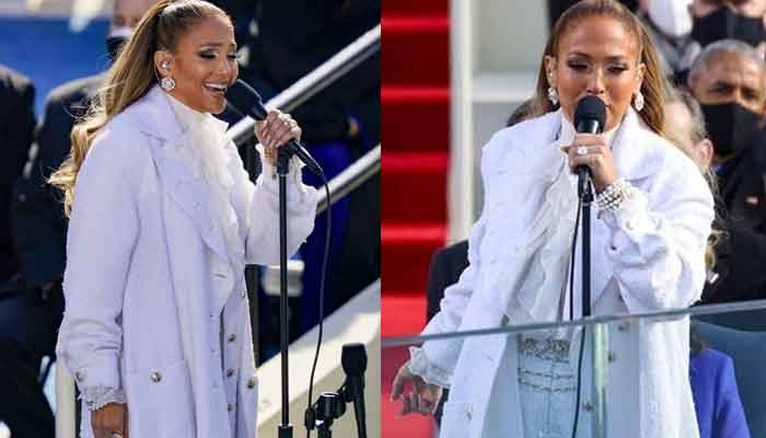 Jennifer Lopez performs patriotic medley with showbiz flourish at Biden inauguration