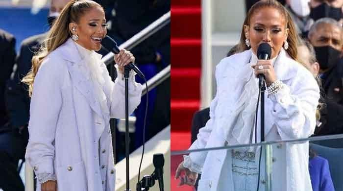 Jennifer Lopez graces inauguration stage in style, sings her hit song 'Let's Get Loud': Watch