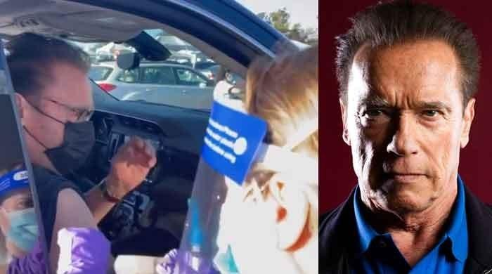 Arnold Schwarzenegger drops famous movie lines as he receives COVID-19 vaccine