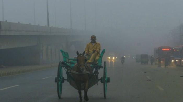 Weather Update: Dark Fog Blanket Karachi