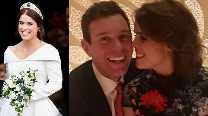Princess Eugenie marks her big day in style as she shares a loved-up photo with husband