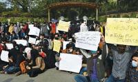 'Online classes, online exams': Students protest against in-person examinations