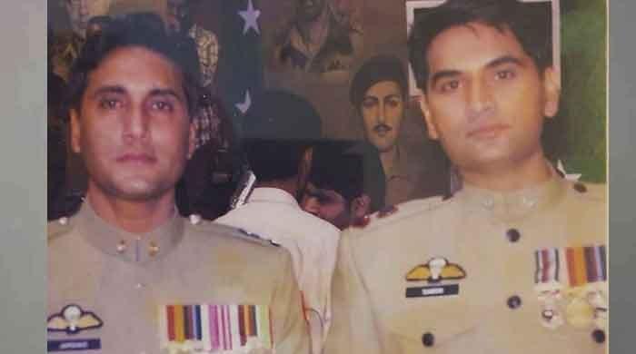 Adnan Siddiqui shares throwback photo with Humayun Saeed in Army uniform
