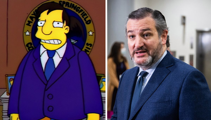 'The Simpsons' Ted Cruz Cancun trip comparison l
