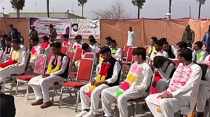 Dozens of couples in Kurram district have been seen getting married in a mass wedding
