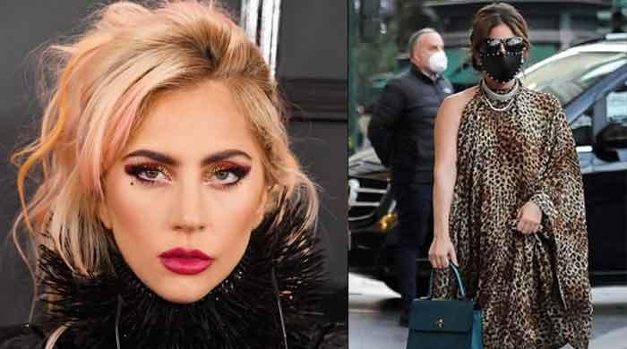 Lady Gaga shows off her new hairstyle during her chic appearance in Rome