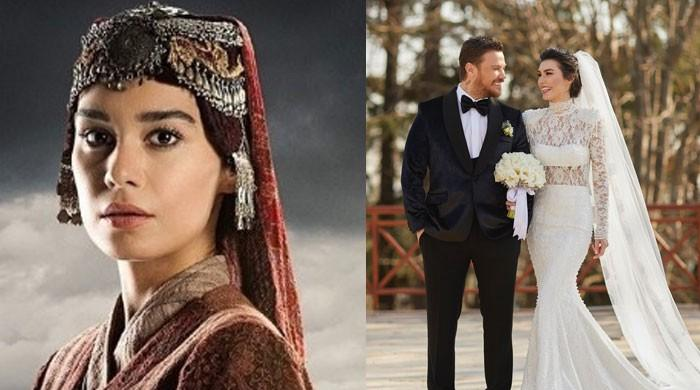 Burcu Kıratlı aka Gokce Hatun treats fans with more photos from her wedding