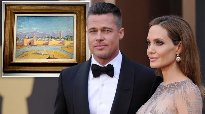 Angelina Jolie sells Winston Churchill painting bought for her by Brad Pitt
