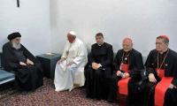 Iraq's Ayatollah Ali Sistani meets Pope Francis in historic meeting in Najaf