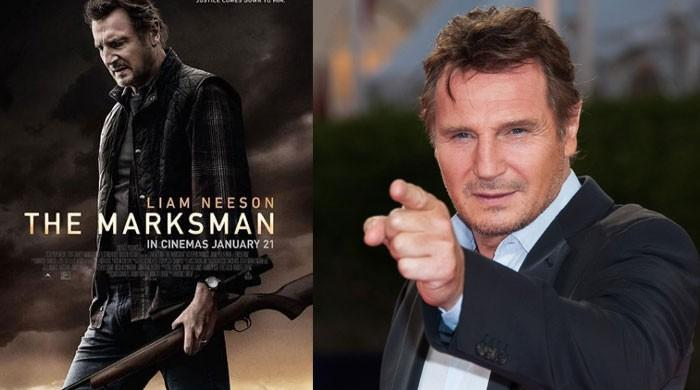 Liam Neeson greets his fans at NYC theatre as his film Marksman screens