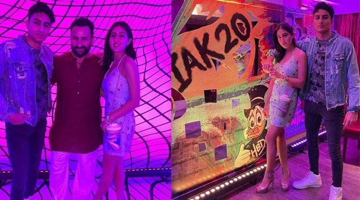 Sara Ali Khan shares a sweet photo with dad Saif Ali Khan from brother Ibrahim Ali Khan's birthday party