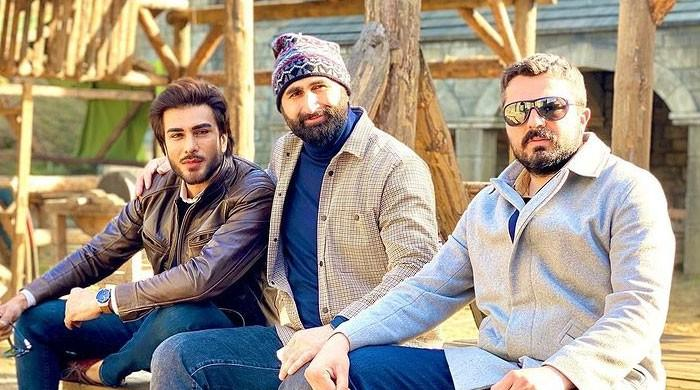 Imran Abbas thanks Turkish actor Celal as he visits sets of 'Dirilis: Ertugrul', 'Kurulus: Osman'
