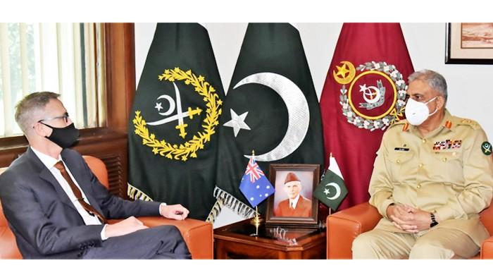 COS Bajwa called on the Australian High Commissioner to Pakistan