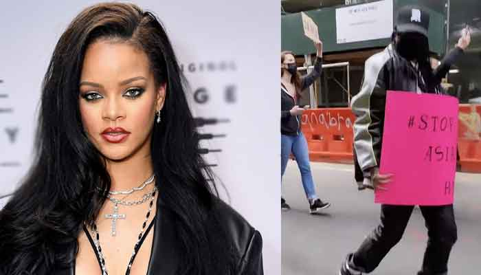 Rihanna Marches in Stop Asian Hate Rally