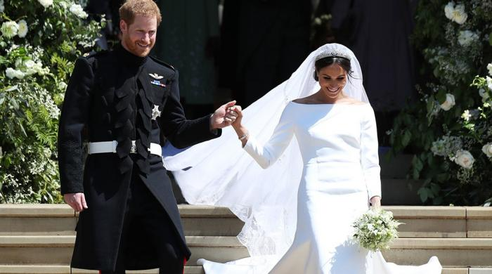 Queen 'expressed surprise' over Meghan Markle's white wedding dress