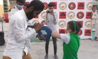 Video: Pakistan's 8-year-old Fatima Naseem break record after hitting most elbow strikes in a minute