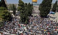 In largest Ramadan gathering since COVID-19 outbreak, Palestinians perform prayers at Aqsa Mosque